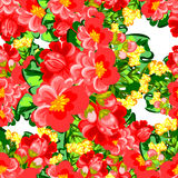 Abstract elegance seamless pattern with floral background Stock Photos