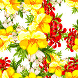 Abstract elegance seamless pattern with floral background Stock Photography