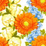 Abstract elegance seamless pattern with floral background Stock Images