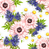 Abstract elegance seamless pattern with floral background Royalty Free Stock Photos