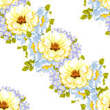 Abstract elegance seamless pattern with floral background Stock Image