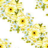 Abstract elegance seamless pattern with floral background Royalty Free Stock Photography