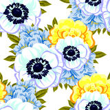 Abstract elegance seamless pattern with floral background Stock Photo