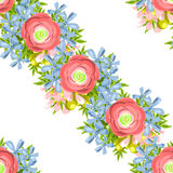 Abstract elegance seamless pattern with floral background Royalty Free Stock Image