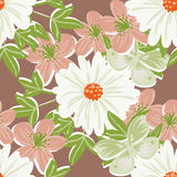 Abstract elegance seamless pattern with floral elements Royalty Free Stock Image