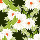 Abstract elegance seamless pattern with floral elements Stock Photo