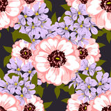 Abstract elegance seamless pattern with floral elements Stock Photography