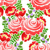 Abstract elegance seamless pattern with floral elements Royalty Free Stock Photos