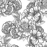 Abstract elegance seamless pattern with floral elements. Vintage flowers. Abstract elegance seamless pattern with floral elements. Flower background Stock Image
