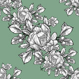 Abstract elegance seamless pattern with floral elements Stock Photos