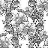 Abstract elegance seamless pattern with floral elements Royalty Free Stock Images