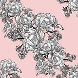 Abstract elegance seamless pattern with floral elements Stock Image