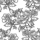 Abstract elegance seamless pattern with floral elements Royalty Free Stock Photo