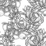 Abstract elegance seamless pattern with floral elements. Vintage flowers. Abstract elegance seamless pattern with floral elements. Flower background Royalty Free Stock Photography