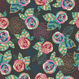 Abstract Elegance Seamless pattern with floral Stock Photos