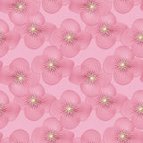 Abstract elegance seamless pattern with flowers background Stock Photo