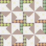 Abstract elegance seamless pattern patchwork background Royalty Free Stock Photos