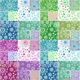 Abstract elegance seamless pattern patchwork design background Stock Image