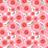 Abstract elegance seamless pattern pink flowers background Royalty Free Stock Images