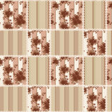 Abstract elegance seamless pattern with roses flowers background Stock Photography