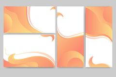 Abstract elegant banners set of templates. For web and print desingt fluent design digital art Royalty Free Stock Photo