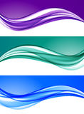 Abstract elegant colorful backgrounds set Stock Images