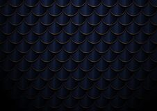 Free Abstract Elegant Dark Blue And Gold Geometric Semicircle Pattern Background And Texture Stock Photography - 175024722