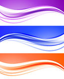 Abstract elegant light waves collection. In orange purple blue colors and dynamic smooth style. Vector illustration royalty free illustration