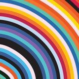 Abstract Elegant Rainbow Colorful Circle Stripe Sun Burst Background. Abstract Elegant Rainbow Colorful Circles Stripe Sun Burst Business Background vector illustration