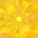 Abstract Elegant Yellow Sun Background Stock Images