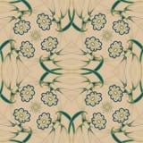 Abstract Elegantie Naadloos patroon met bloemen Stock Foto
