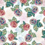 Abstract Elegantie Naadloos patroon met bloemen Stock Foto's