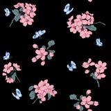 Abstract Elegantie Naadloos patroon met bloemenachtergrond Stock Foto