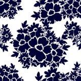 Abstract Elegantie Naadloos patroon met bloemenelementen Stock Afbeeldingen