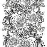 Abstract Elegantie Naadloos patroon met bloemenelementen Stock Foto's