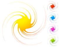 Abstract element. circular, radial distorted design element. col Stock Images