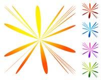 Abstract element cirkel, radiaal vervormd ontwerpelement col. Stock Afbeelding