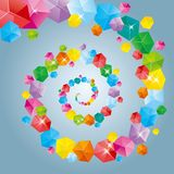 The abstract element of the cube. The abstract element of the cube, the background is blue stock illustration