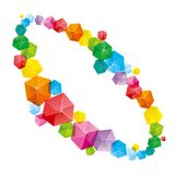 The abstract element of the cube. The abstract element of the cube, the background is white royalty free illustration
