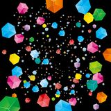 The abstract element of the cube. The abstract element of the cube, the background is black vector illustration