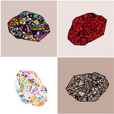 Abstract element of design. Set made in different color variations Royalty Free Stock Photography