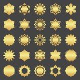 Abstract element voor ontwerp, gouden decoratie Royalty-vrije Stock Afbeeldingen