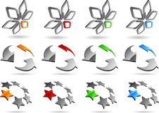 Abstract elements. Set of abstract elements. Vector illustration Stock Photo