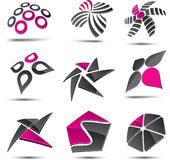 Abstract elements. Set of 3D abstract design elements Stock Photo