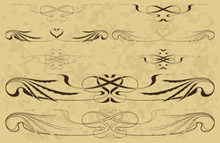 Elements in style art-nouveau Royalty Free Stock Photos