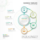 Abstract elements of cycle diagram with 4 steps, options, Vector illustration, web design, presentation, diagram, workflow layout. Vector illustration for Stock Photography