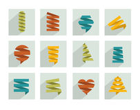 Abstract elements for design. Paper eco design. Stock Photo