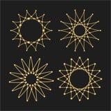 Set of vector lace frames design templates. Web Technology and Internet. Graceful line art logo design elements royalty free illustration