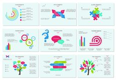 Abstract elements of graph, diagram, Vector business template for presentation. Stock Photo