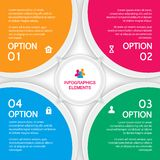 Abstract elements of infographics, four options Stock Photo